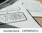ux mobile application wireframe....