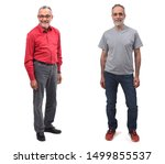 portrait of two men on white...   Shutterstock . vector #1499855537