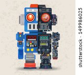 robot opened to reveal cogs... | Shutterstock .eps vector #149986025