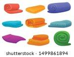 soft blanket icons set. cartoon ... | Shutterstock .eps vector #1499861894