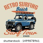 surf car and surf board vector... | Shutterstock .eps vector #1499878961
