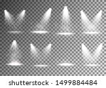 set of spotlight. transparent... | Shutterstock .eps vector #1499884484