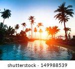 beautiful sunset at a beach... | Shutterstock . vector #149988539