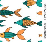 vector seamless pattern with... | Shutterstock .eps vector #1499892851