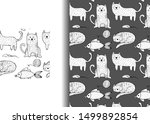 vector seamless pattern with... | Shutterstock .eps vector #1499892854