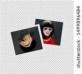 set of vector photos of models. ... | Shutterstock .eps vector #1499896484