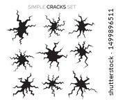 set of vector simple cracks... | Shutterstock .eps vector #1499896511