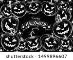 halloween pumpkin design... | Shutterstock .eps vector #1499896607
