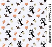 seamless vector pattern with... | Shutterstock .eps vector #1499912081