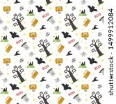 seamless vector pattern with... | Shutterstock .eps vector #1499912084