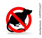 anti rat simple vector sign for ... | Shutterstock .eps vector #1499921627