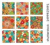 vintage floral seamless...   Shutterstock .eps vector #1499925491
