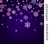 winter snowflakes and circles... | Shutterstock .eps vector #1499929337