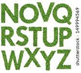 set of green grass alphabet n z | Shutterstock . vector #149994569