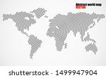abstract world map of radial... | Shutterstock .eps vector #1499947904