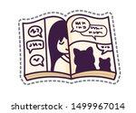 manga. open comic book  graphic ... | Shutterstock .eps vector #1499967014