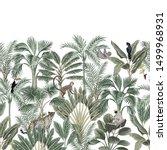 tropical vintage botanical... | Shutterstock .eps vector #1499968931