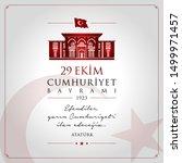 29 ekim cumhuriyet bayrami... | Shutterstock .eps vector #1499971457