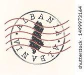 albania stamp postal. map... | Shutterstock .eps vector #1499973164