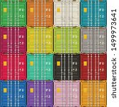 cargo containers views to doors | Shutterstock .eps vector #1499973641