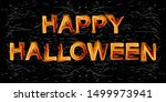 happy halloween lettering.... | Shutterstock .eps vector #1499973941