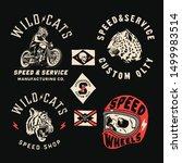 set of vintage motorcycle... | Shutterstock .eps vector #1499983514