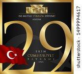 29 ekim cumhuriyet bayrami... | Shutterstock .eps vector #1499994617