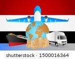 yemen logistics concept... | Shutterstock .eps vector #1500016364