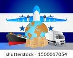 honduras logistics concept... | Shutterstock .eps vector #1500017054