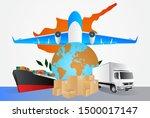 cyprus logistics concept... | Shutterstock .eps vector #1500017147