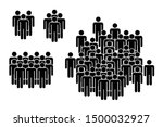 group of people. people figure... | Shutterstock .eps vector #1500032927