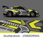 car wrap or decal design.... | Shutterstock .eps vector #1500039041