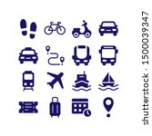 Transport Silhouette Icon...