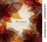 vintage autumn floral... | Shutterstock .eps vector #150004454
