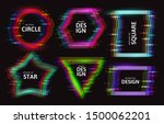 set of frames with glitch tv... | Shutterstock .eps vector #1500062201