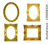 gold frame on the white... | Shutterstock . vector #150008324