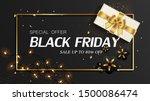 black friday sale banner. black ... | Shutterstock .eps vector #1500086474