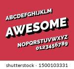 vector stylish font.... | Shutterstock .eps vector #1500103331