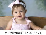 Beautiful Baby Girl With Bow I...