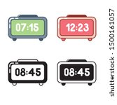time icon set. electronic table ...