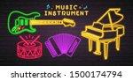 Music Instruments Neon Light...
