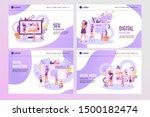 set of creative website... | Shutterstock .eps vector #1500182474
