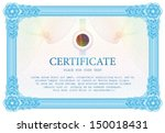 template certificate  currency  ... | Shutterstock .eps vector #150018431