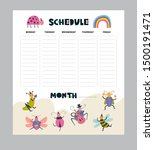 vector weekly planner with... | Shutterstock .eps vector #1500191471