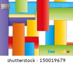 linear vector abstraction | Shutterstock .eps vector #150019679