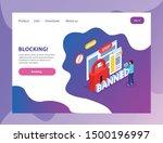internet website blocking...   Shutterstock .eps vector #1500196997