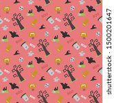 seamless vector pattern with... | Shutterstock .eps vector #1500201647