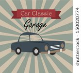 car classic label over grunge... | Shutterstock .eps vector #150020774