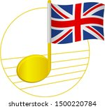 united kingdom flag and musical ... | Shutterstock .eps vector #1500220784