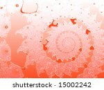 red smooth 2d shallow fractal... | Shutterstock . vector #15002242